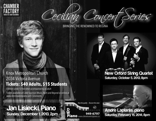 Cecilian Concert Series 2013-2014 Season Announcement